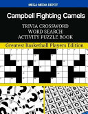 Campbell Fighting Camels Trivia Crossword Word Search Activity Puzzle Book