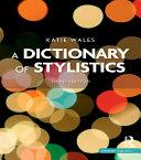 Pdf A Dictionary of Stylistics