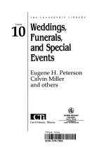 Weddings  Funerals  and Special Events Book