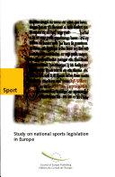 Etude Des L  gislations Nationales Relatives Au Sport en Europe
