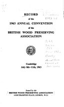 Record Of The Annual Convention