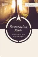 CSB Restoration Bible  Trade Paper