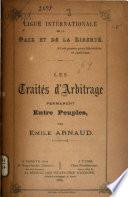 Les traités d'arbitrage permanent entre peuples