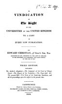 Pdf A vindication of the right of the universities of Great-Britain to a copy of every new publication
