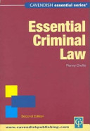 Cover of Essential Criminal Law