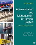 Administration and Management in Criminal Justice Pdf/ePub eBook