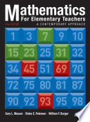 Mathematics for Elementary Teachers: A Contemporary Approach, 10th Edition Book