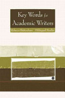 Key Words for Academic Writers