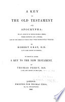A Key to the Old Testament and Apocrypha