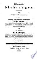 Altdeutsche Dichtungen