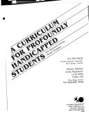 A Curriculum for Profoundly Handicapped Students
