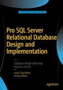 Pro SQL Server Relational Database Design and Implementation Book
