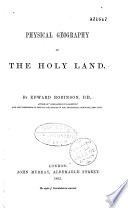 Physical Geography of the Holy Land Book PDF