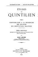 Études sur Quintilien