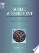 Encyclopedia Of Social Measurement Kimberly Kempf Leonard