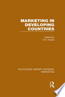 Marketing in Developing Countries  RLE Marketing  Book