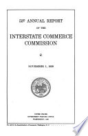 Annual Report of the Interstate Commerce Commission Book