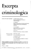Abstracts On Criminology And Penology