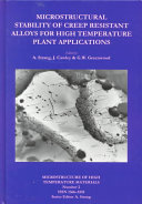 Microstructural Stability of Creep Resistant Alloys for High Temperature Plant Applications Book
