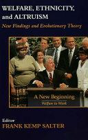 Pdf Welfare, Ethnicity and Altruism