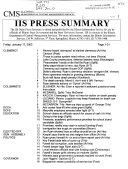 Press Summary Illinois Information Service Book PDF