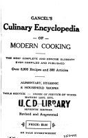 Gancel s Culinary Encyclopedia of Modern Cooking
