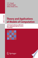 Theory and Applications of Models of Computation Book