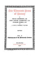 Six Thousand Years of History  Achievements of the nineteenth century