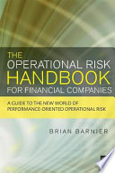 The Operational Risk Handbook for Financial Companies Book