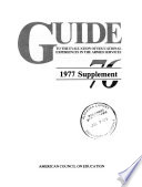 Guide to the evaluation of educational experience in the Armed Service 76