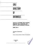 Gale Directory of Databases  , Band 1,Teil 2