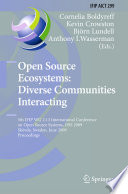 Open Source Ecosystems Diverse Communities Interacting Book PDF