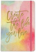 Watercolor Sunset Dot Matrix Notebook