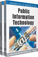 Handbook of Research on Public Information Technology Pdf/ePub eBook