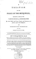 Pdf A Treatise on the Police of the Metropolis;