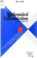 Mathematical Communications
