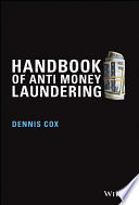 Handbook Of Anti Money Laundering