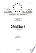Parliamentary Assembly Official Report Of Debates 2000 Ordinary Session Fourth Part Volume Iv September 2000