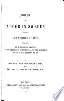 Notes of a Tour in Sweden, During the Summer of 1858