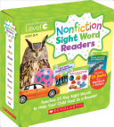 Nonfiction Sight Word Readers  Guided Reading Level C  Parent Pack