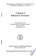 A Manual of Radioactivity Procedures  Recommendations