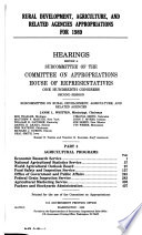 Rural development  agriculture  and related agencies appropriations for 1989