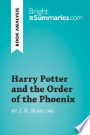 Harry Potter and the Order of the Phoenix by J K  Rowling  Book Analysis  Book