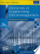 Elements of Engineering Electromagnetics, 6/e
