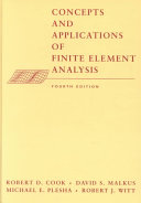 Concepts and Applications of Finite Element Analysis