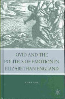 Pdf Ovid and the Politics of Emotion in Elizabethan England
