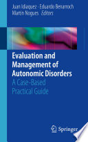 Evaluation and Management of Autonomic Disorders Book