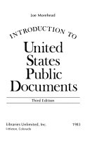 Introduction to United States Public Documents