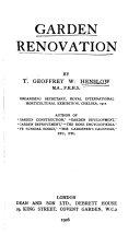 Garden Renovation Book