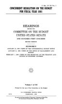 Concurrent Resolution on the Budget for Fiscal Year 1991  Economics  January 24  1990  views of the Congressional Budget Office